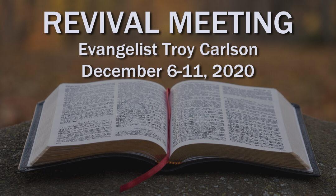 Evangelist Troy Carlson (Prov. 3:5-6)